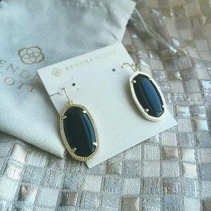 Kendra Scott Elle Drop Earrings Gold Black